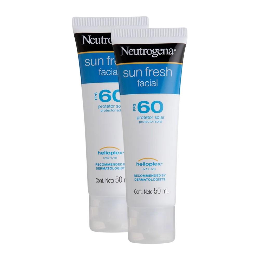 Kit 2 Protetor Solar Facial Neutrogena Sun Fresh FPS 60 50g