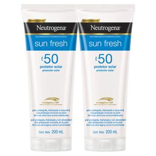 Kit 2 Protetor Solar Neutrogena Sun Fresh Corpo FPS 50 200ml