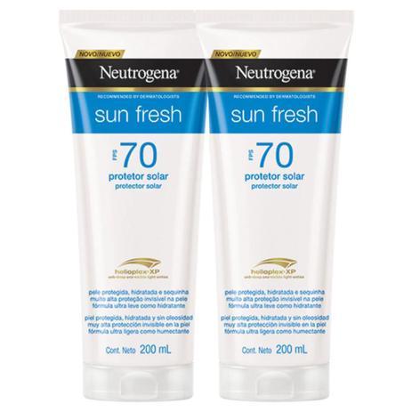 Kit 2 Protetores Solares Neutrogena Sun Fresh Corpo FPS 70 200ml