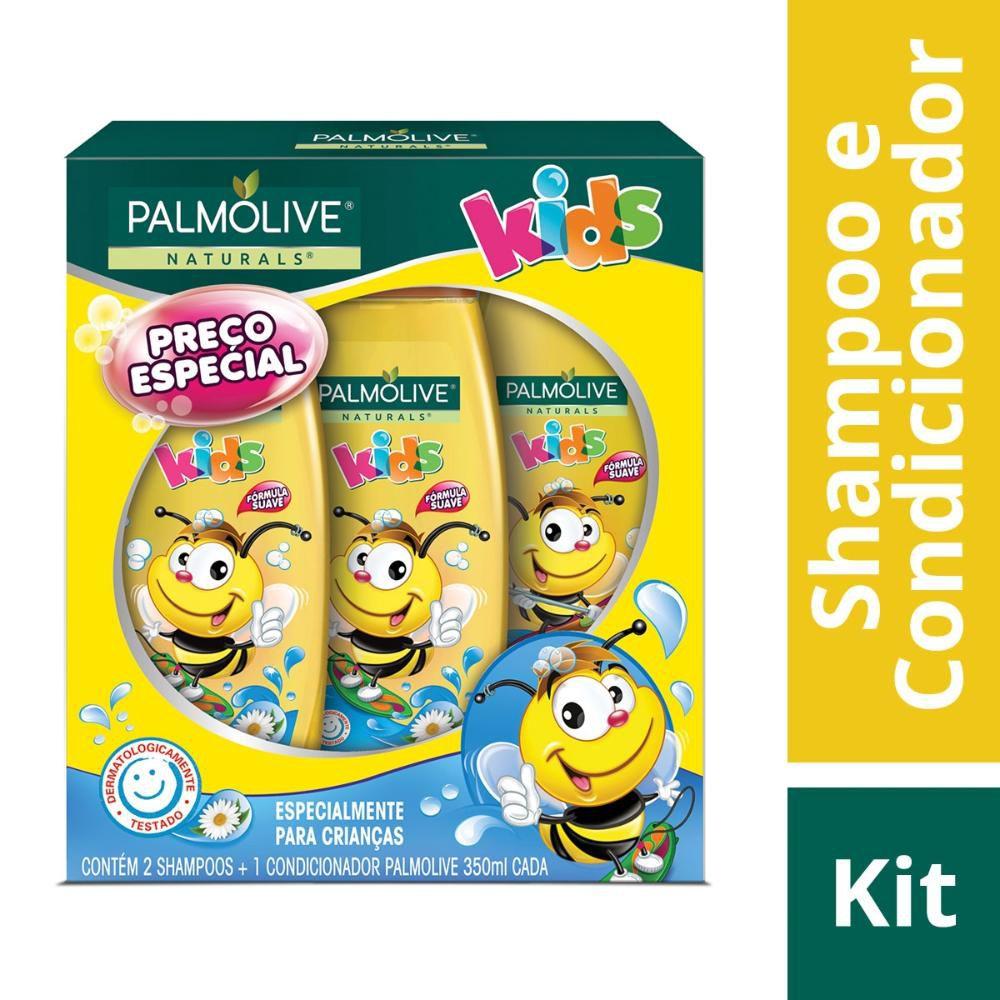 Kit 2 Shampoos + 1 Condicionador Palmolive Naturals Kids 350mL
