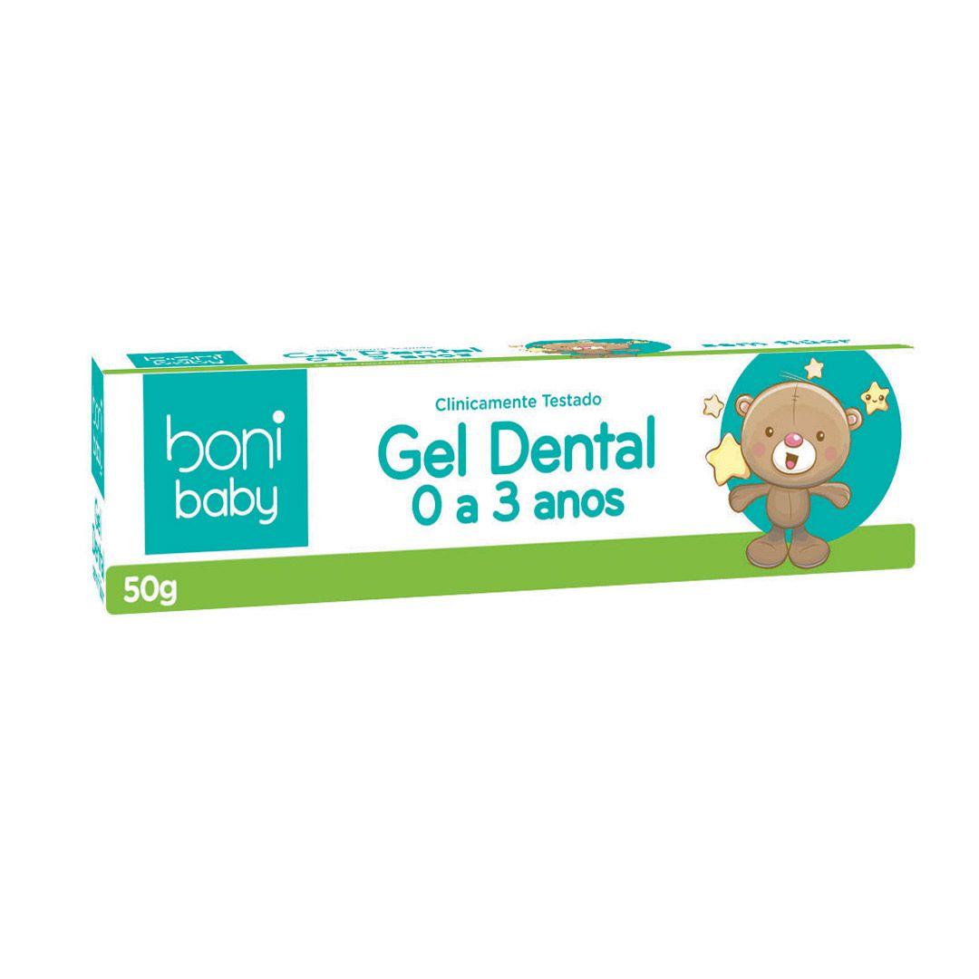 Kit 3 Gel Dental Sem Flúor Boni Baby Personagens 50g