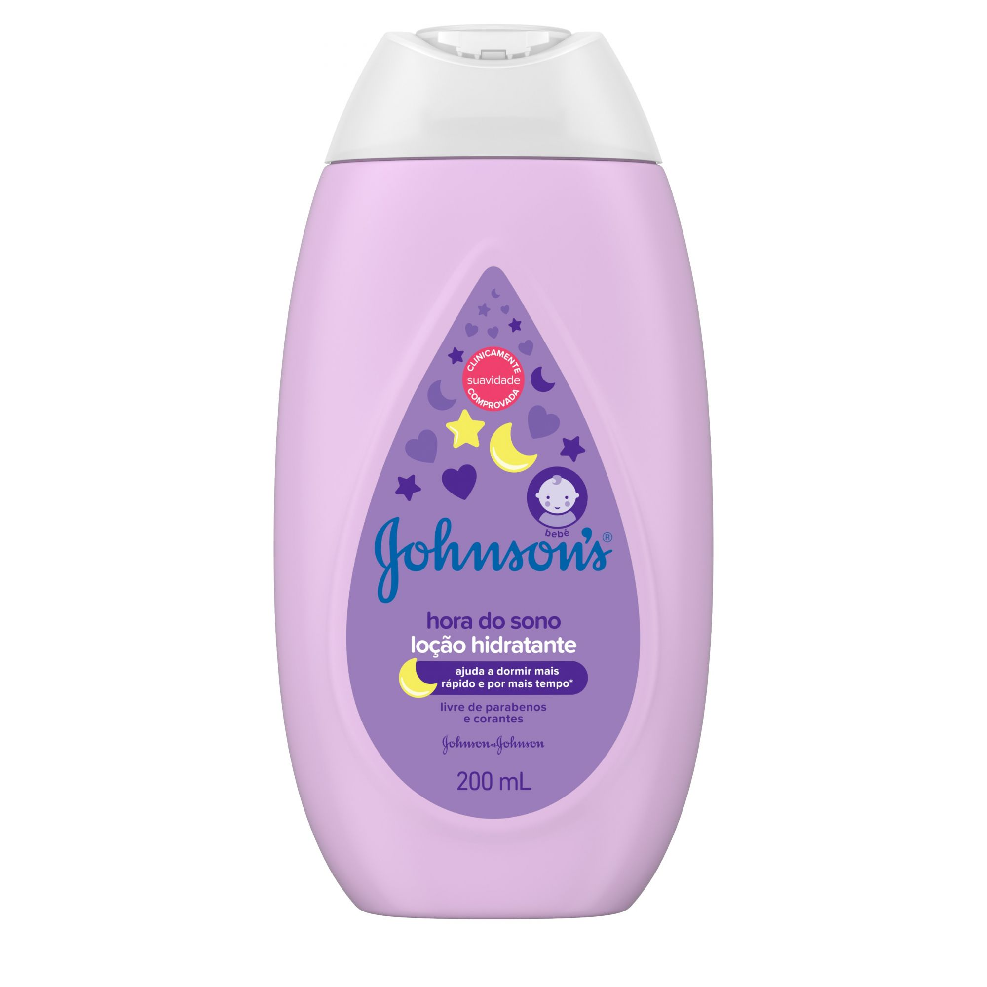 Kit 4 Hidratantes Corporal Hora do Sono Johnson's Baby 200ml