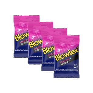 Kit 4 Pacotes Preservativo Blowtex Orgazmax com 3 Unidades cada