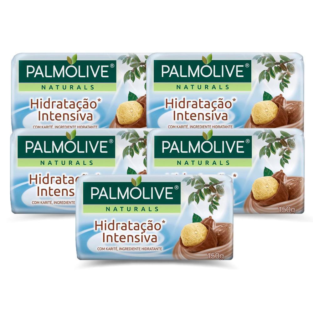 Kit 5 Sabonetes em Barra Palmolive Naturals Hidratação Intensiva 150g