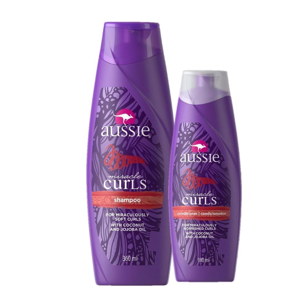 Kit Aussie Miracle Curls Shampoo 360ml + Condicionador 180ml