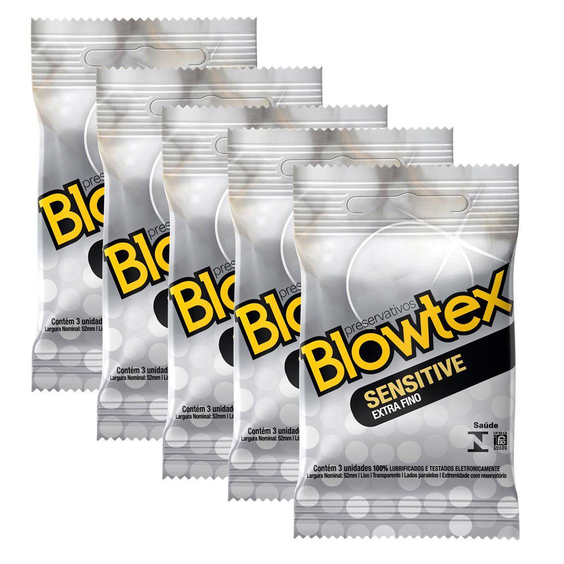 Kit C/ 12 Pacts Preservativo Blowtex Sensitive c/ 3 Un cada