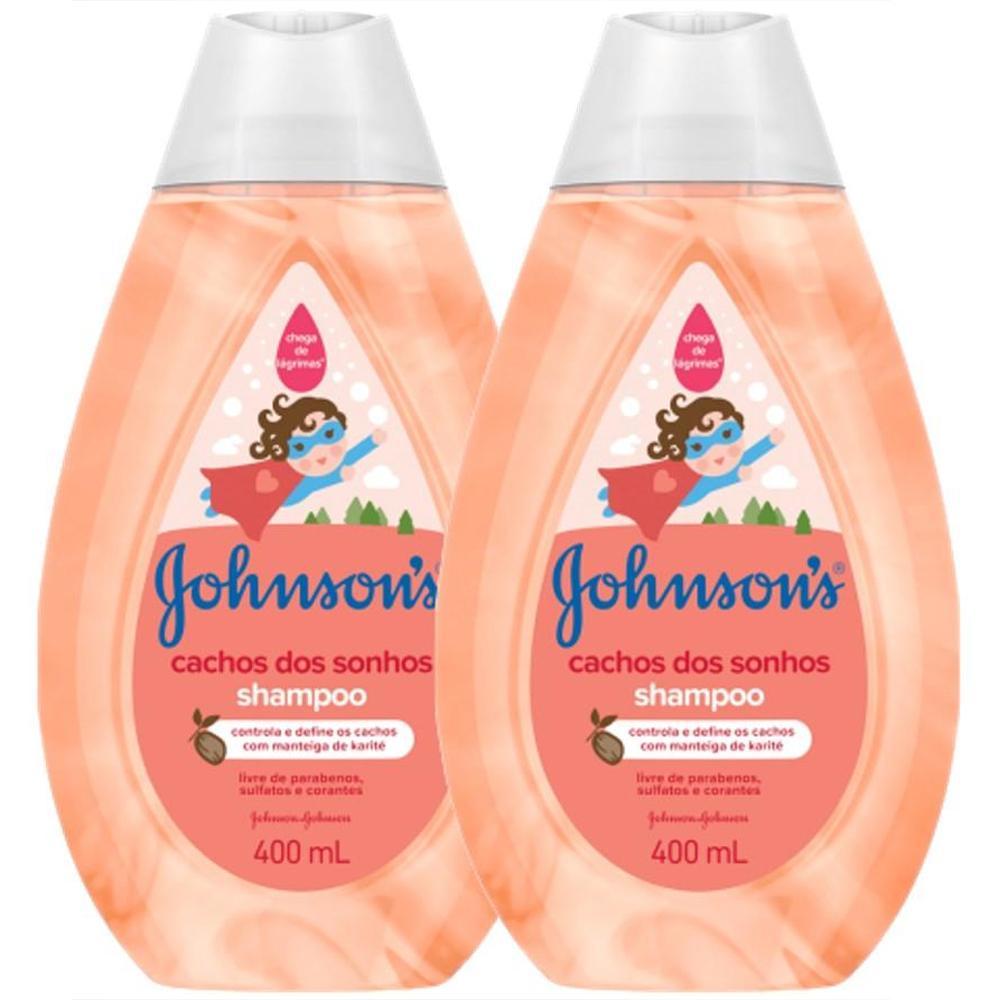 Kit c/ 2 Shampoo Johnson's Baby Cachos Definidos 400ml
