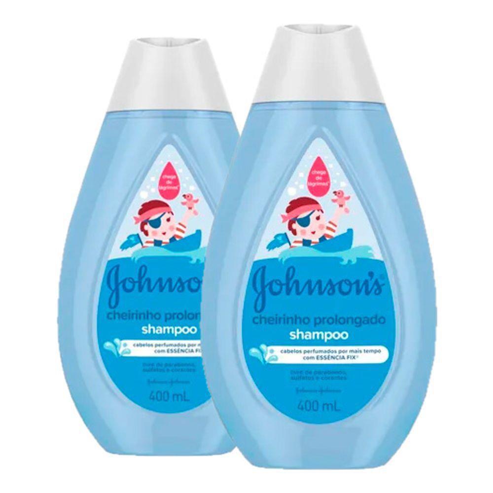 Kit c/ 2 Shampoo Johnson's Baby Cheirinho Prolongado 400ml