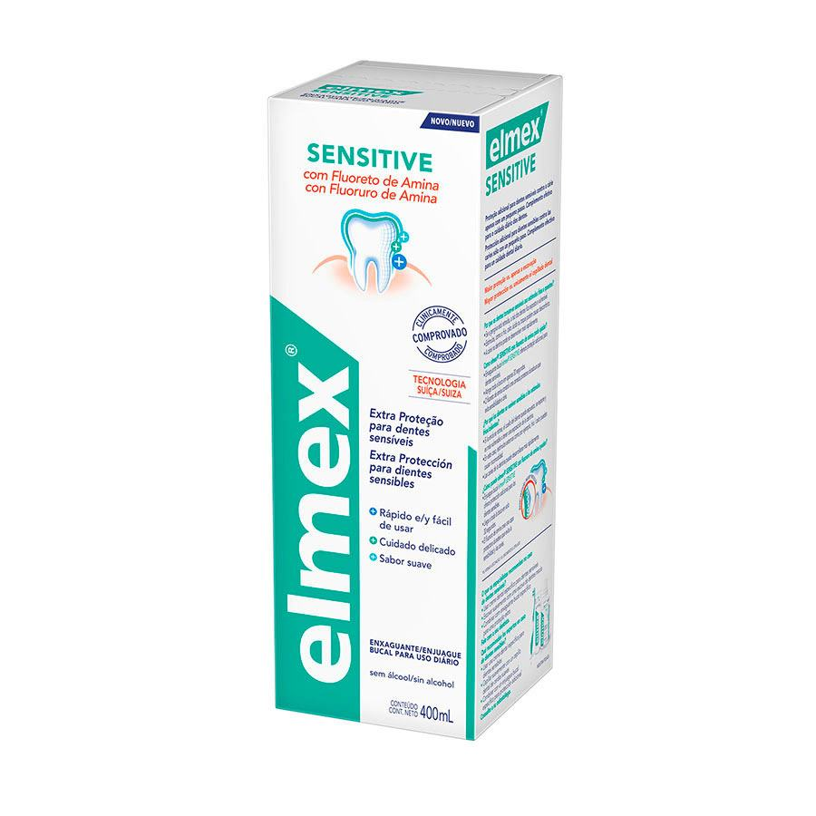Kit C/ 3 Enxaguante Bucal Elmex Sensitive 400ml