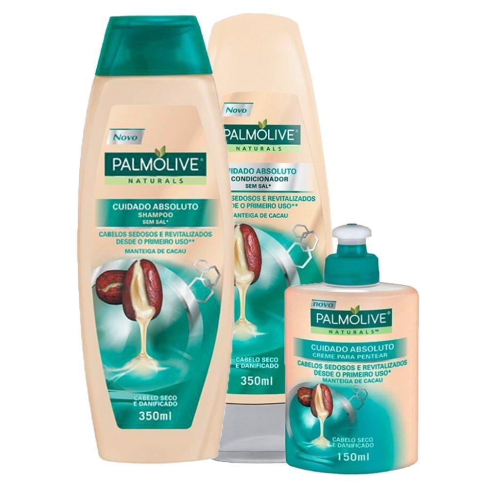 Kit Cabelo Cuidado Absoluto: Shampoo + Cond. + Creme