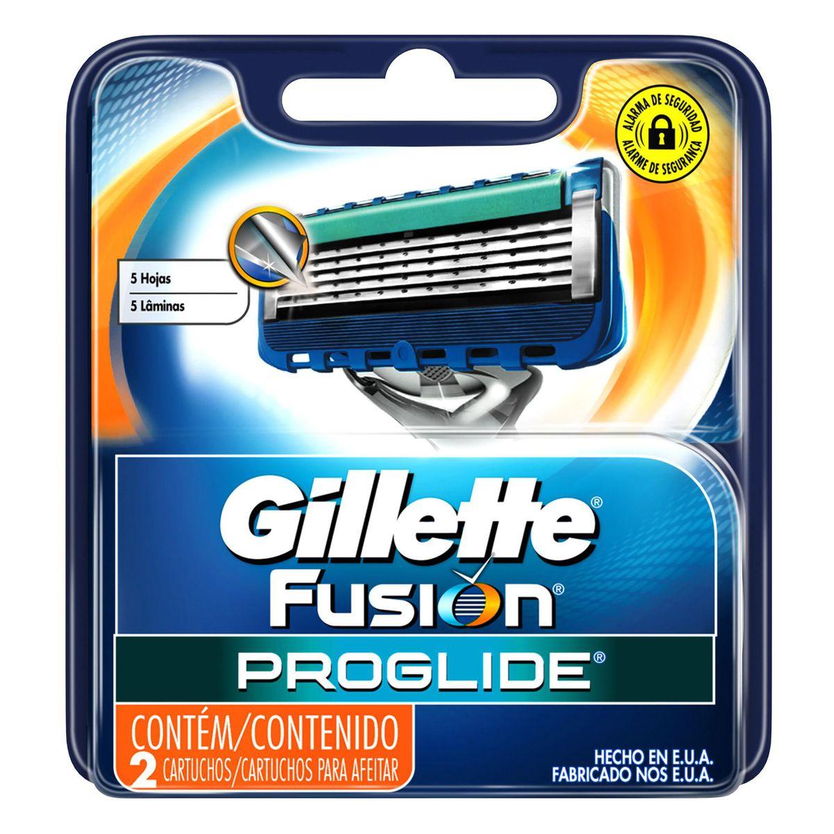 Kit Carga Gillette Aparelho de Barbear Fusion Proglide  - 20 Un
