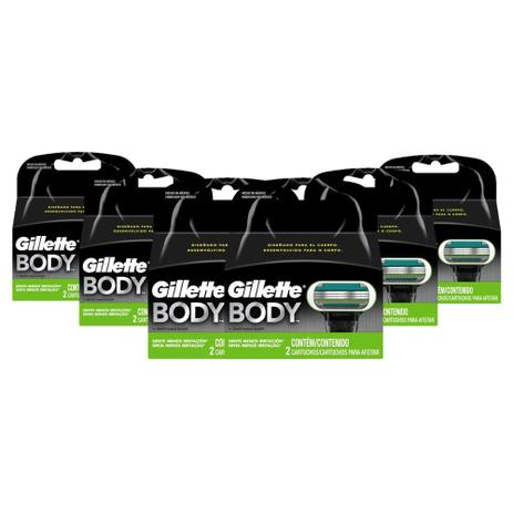 Kit Carga Gillette Body com 12 Unidades