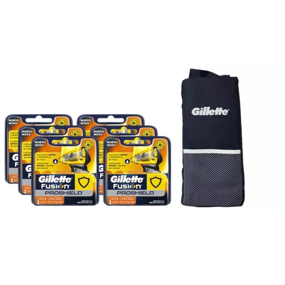 Kit Cargas Gillette Fusion Proshield com 12 Unidades + 1 Necessarie Gillette