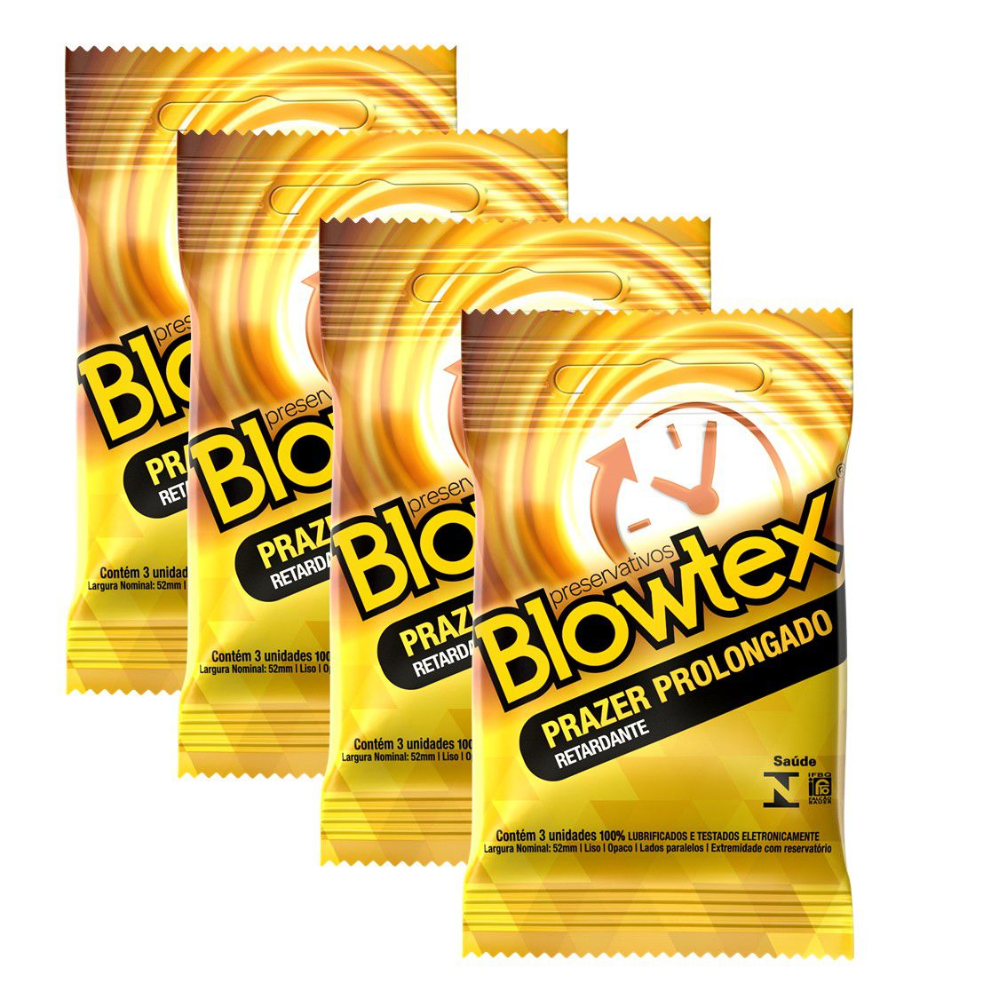 Kit com 12 Preservativo Blowtex Retardante c/ 3 Un Cada