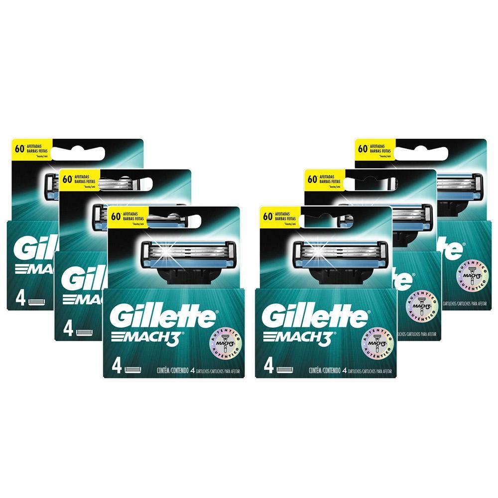 Kit com 24 Cargas Gillette Mach3