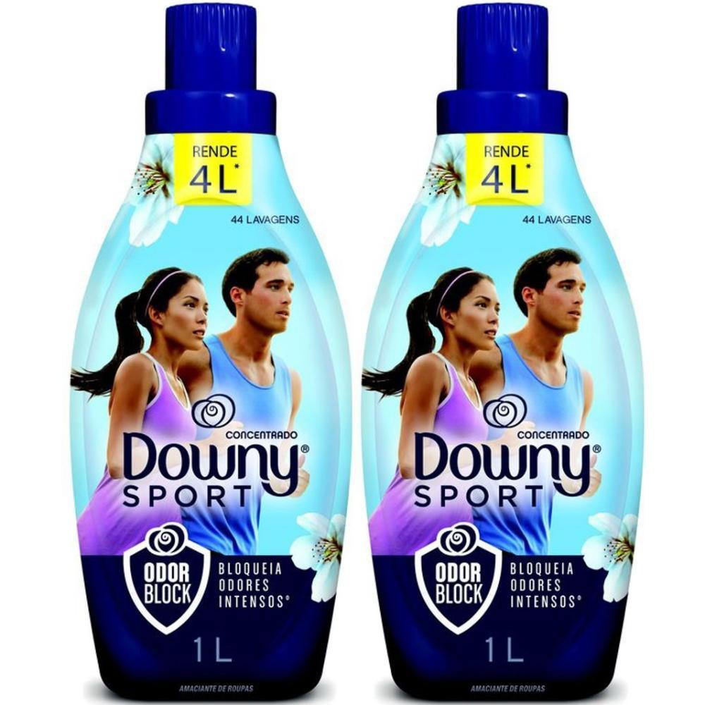 Kit com 2 Amaciante Downy Sport Odor Block 1L