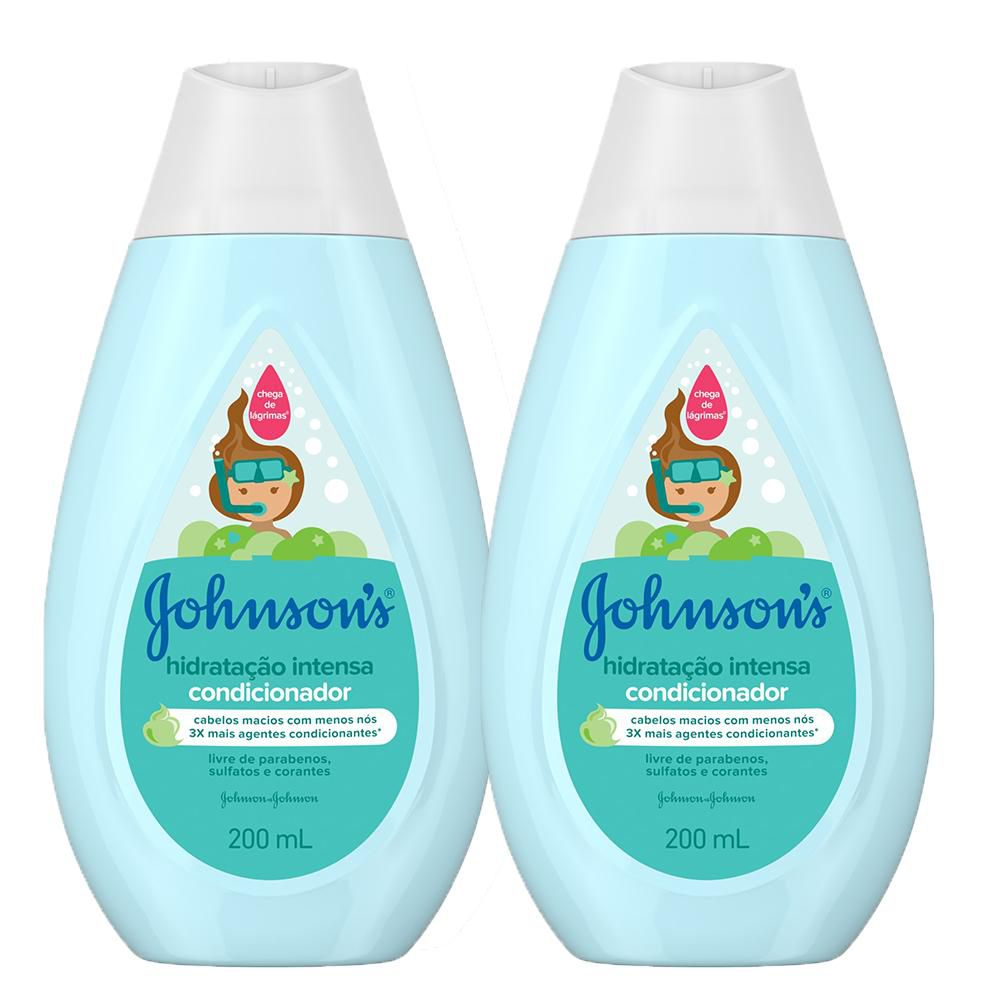 Kit com 2 Condicionadores Hidratação Intensa Johnson's Baby 200ml