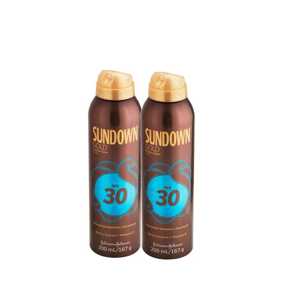 Kit com 2 Protetor Solar Sundown Gold FPS 30 Spray 200mL