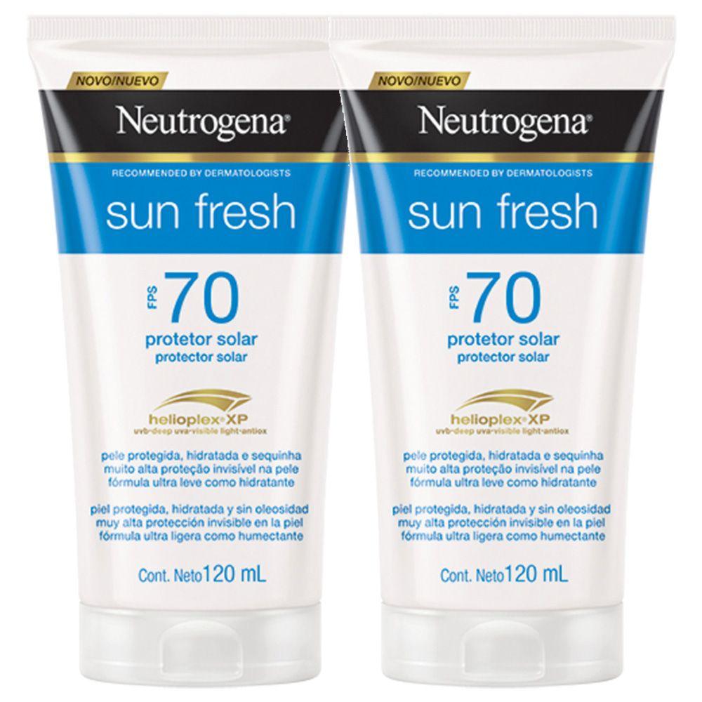 Kit com 2 Protetores Solar Neutrogena Sun Fresh Corpo FPS 70 120ml