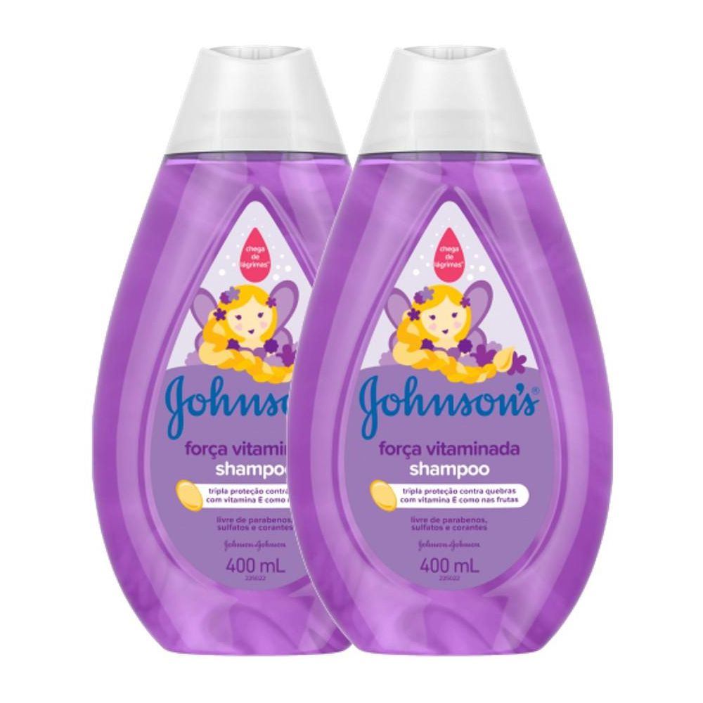 Kit com 2 Shampoo Johnson's Força Vitaminada 400ml