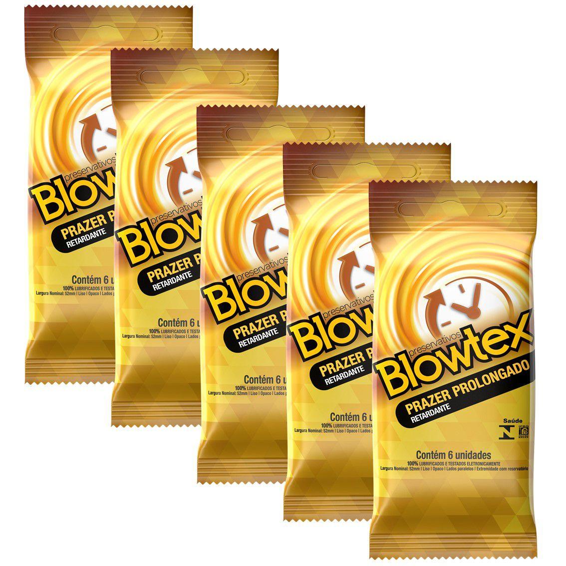 Kit com 30 Preservativo Blowtex Retardante c/ 6 Un Cada