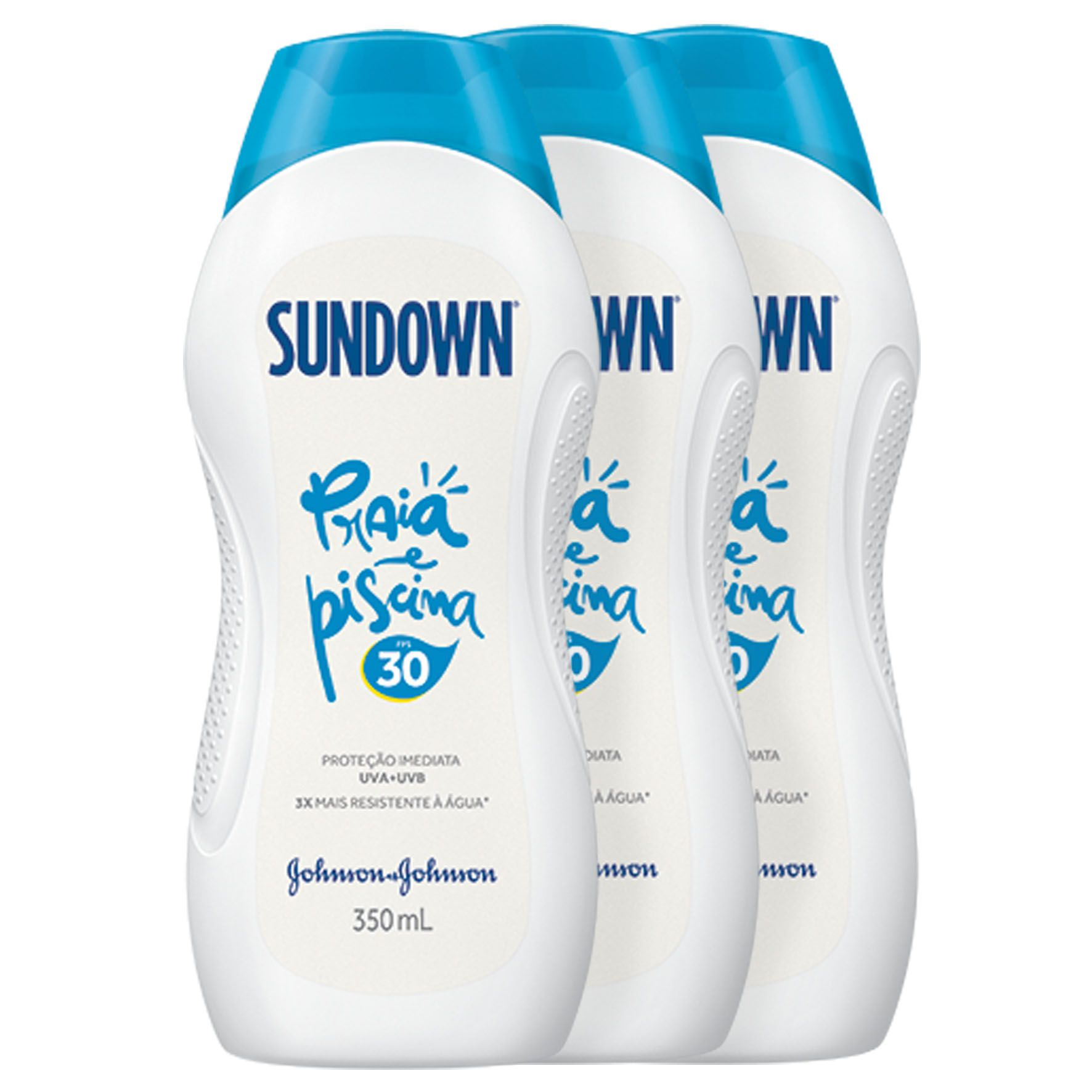 Kit com 3 Protetor Solar Sundown Praia e Piscina FPS 30 350ml