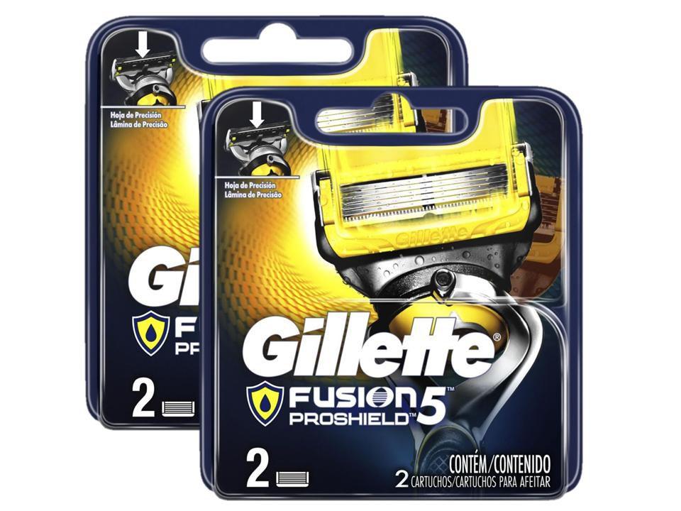 Kit 4 Cargas Gillette Fusion Proshield com 2 unidades