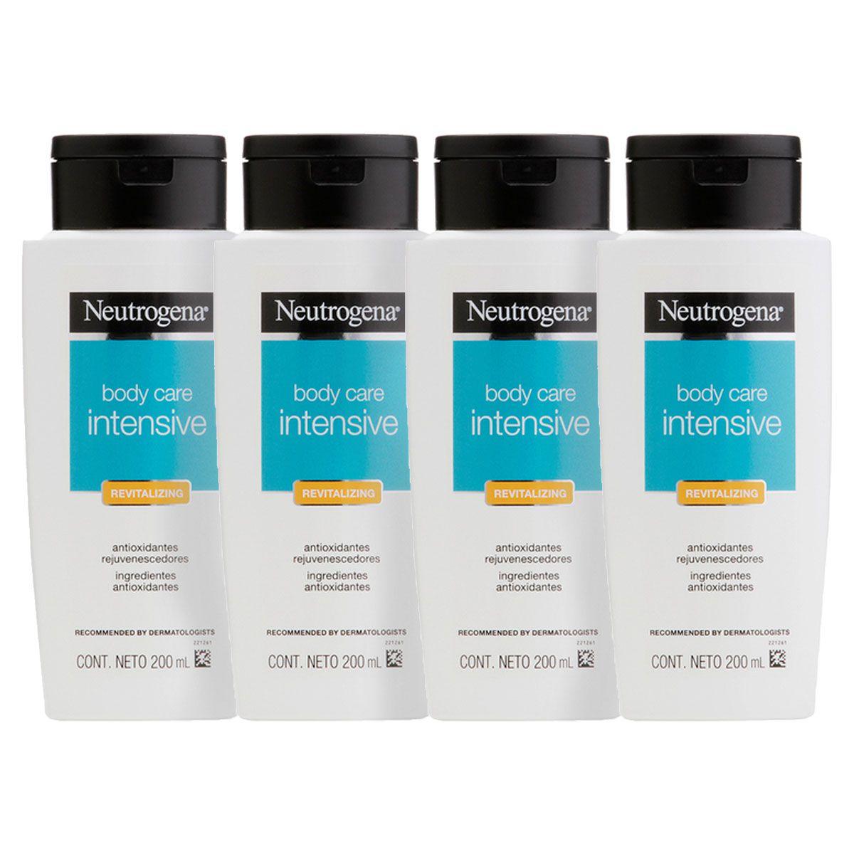 Kit com 4 Hidratantes Corporal Neutrogena Body Care Intensive Revitalizing 200mL