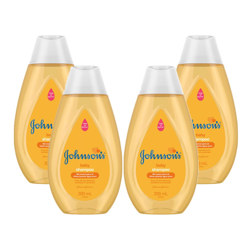 Kit  com 4 Shampoos Johnson's Baby Regular
