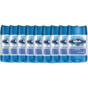 Kit com 9 Desodorantes Clear Gel Cool Wave 82g