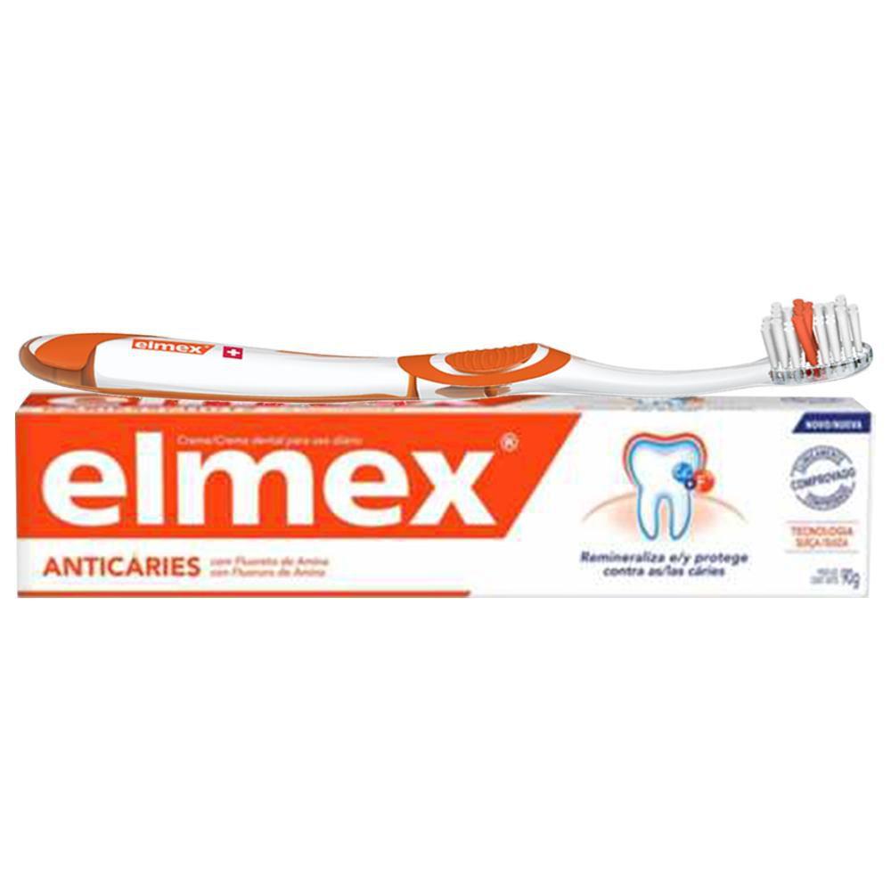 Kit Creme Dental + Escova Elmex 90g