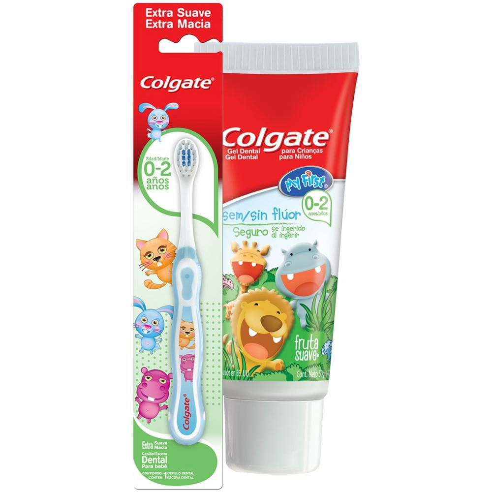 Kit Creme + Escova Dental Colgate My First Sem Flúor 50g