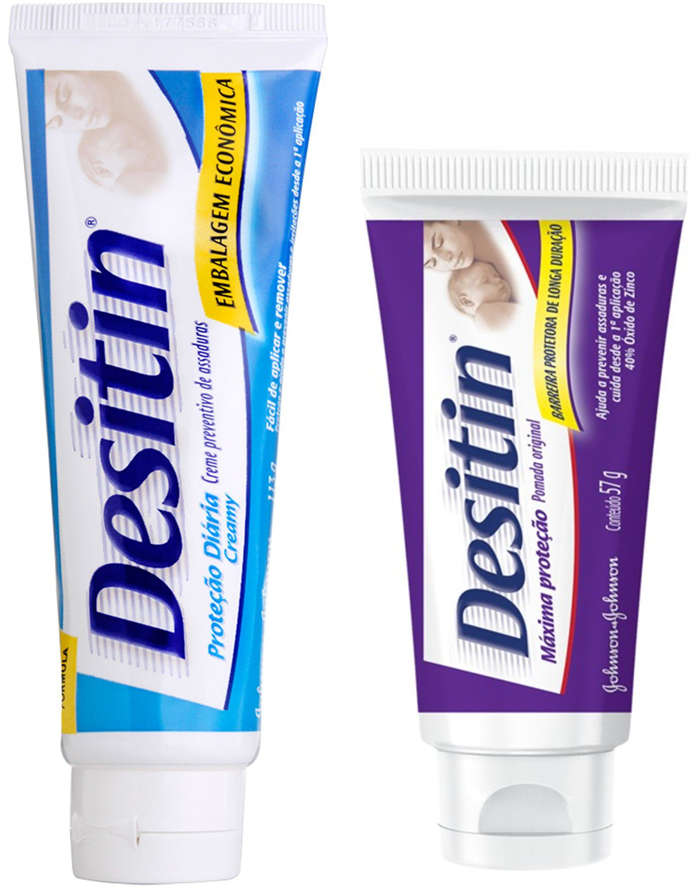 kit Desitin Creamy 113g + Desitin Máxima Duração 57g