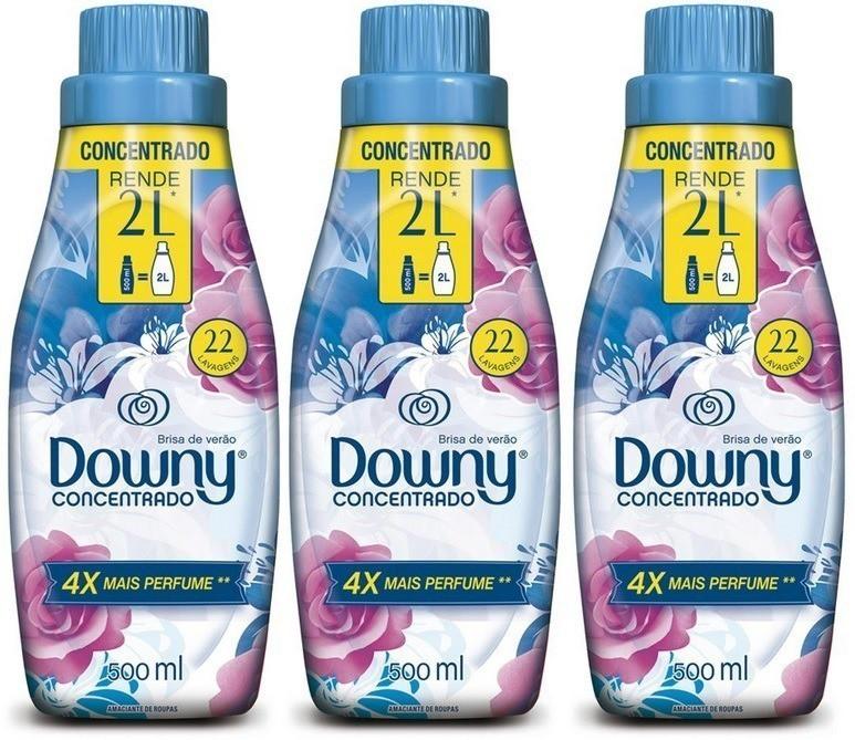 Kit Downy c/ 3 Amaciantes Concentrado - Brisa de Verão 500mL