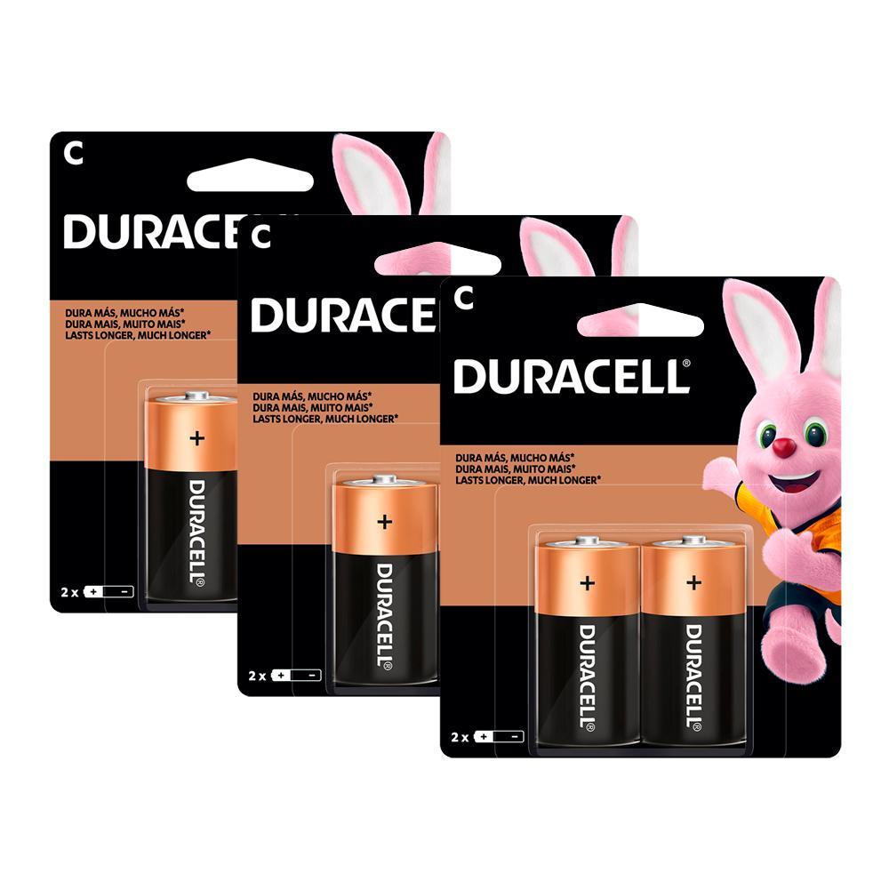 Kit Duracell 6 Pilhas Duralock Alcalina C