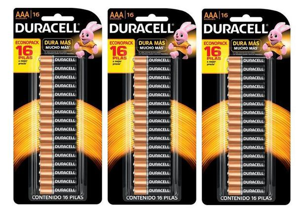 Kit Duracell AAA 48 unidades