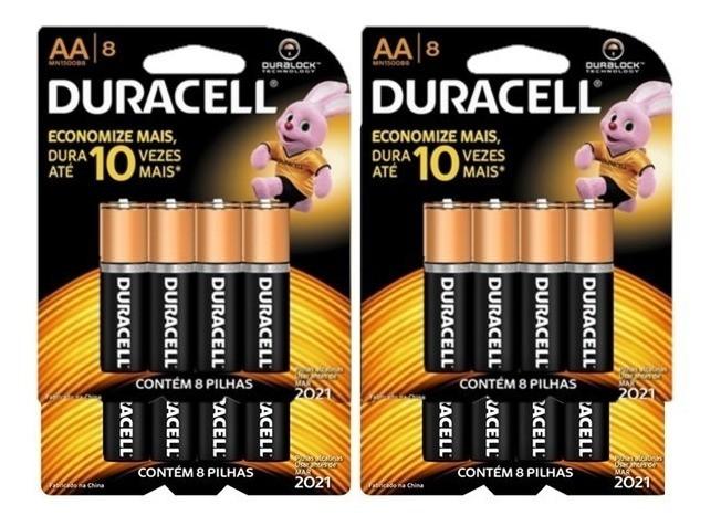 Kit Duracell Duralock Pilha Alcalina AA c/ 32 unidades