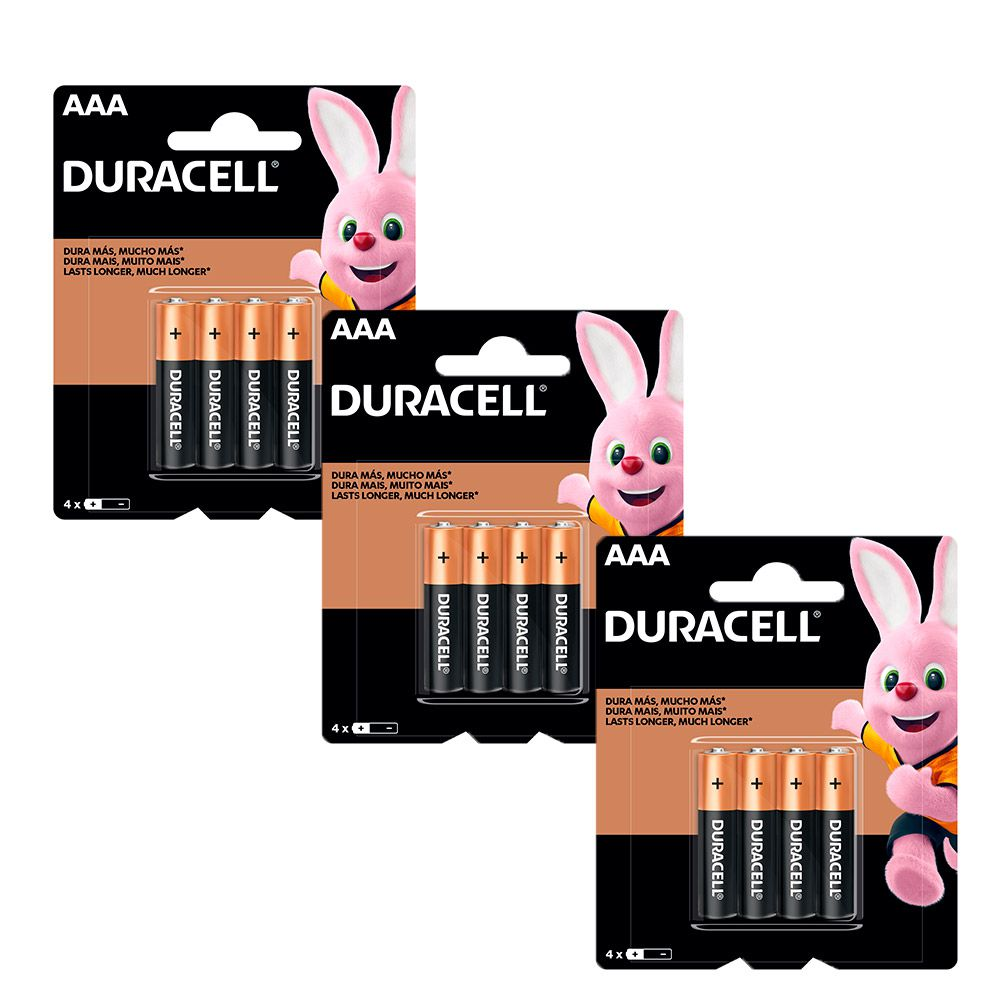 Kit 12 Duracell Duralock Pilha Alcalina AAA