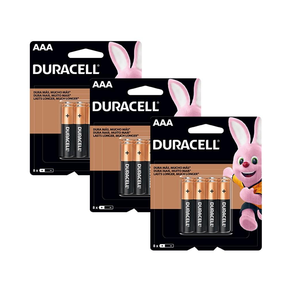 Kit Duracell Duralock Pilha Alcalina AAA c/ 24 unidades