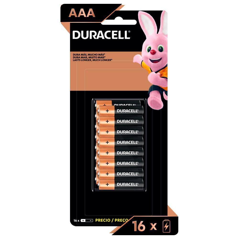 Kit Duracell Duralock Pilha Alcalina AAA c/ 32 unidades