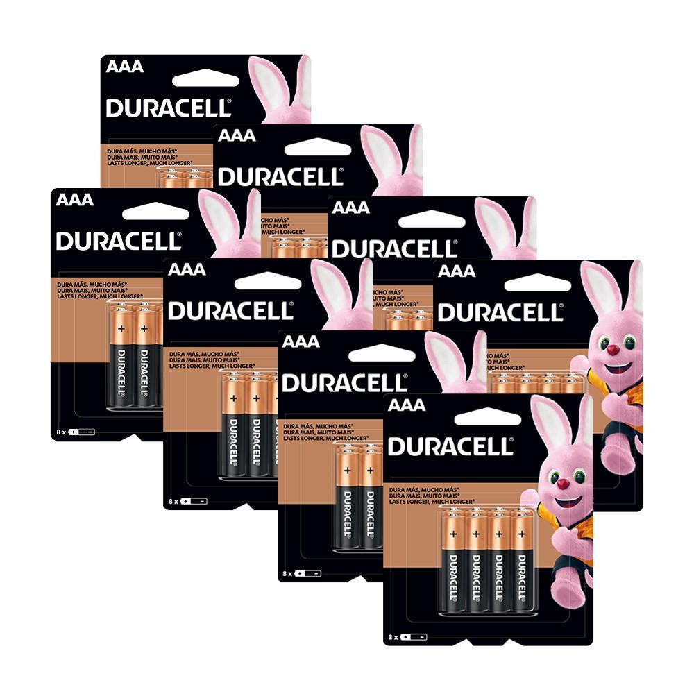 Kit Duracell Duralock Pilha Alcalina AAA c/ 64 unidades
