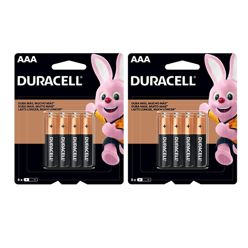 Kit Duracell Duralock Pilha Alcalina AAA com 16 unidades