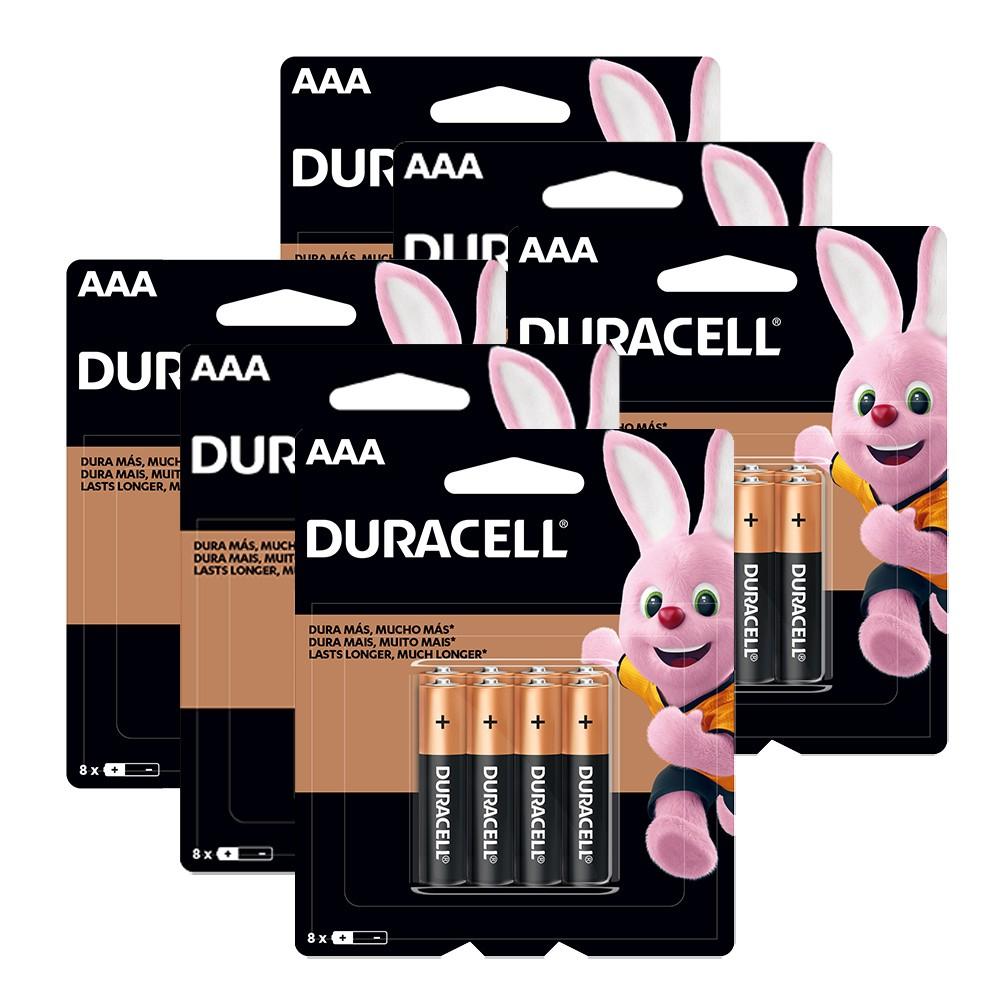 Kit Duracell Duralock Pilhas Alcalinas AAA com 48 unidades