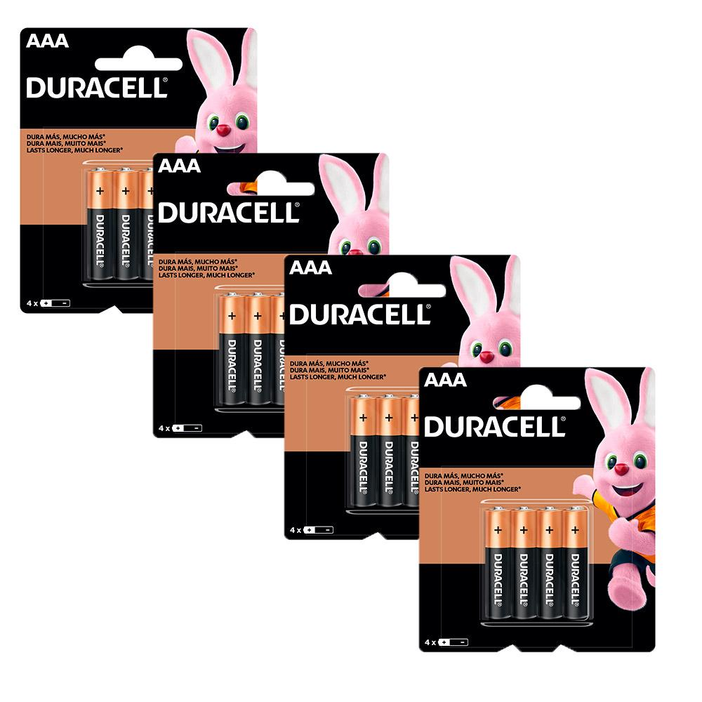 Kit Duracell Pilha Alcalina AAA 32 Unidades