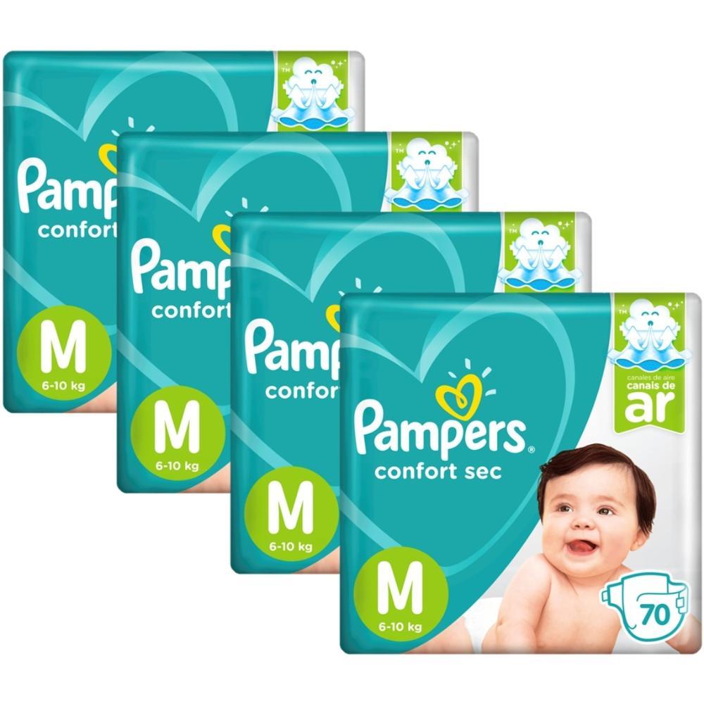 Kit Fralda Pampers Confort Sec Super Tamanho M 280 unidades
