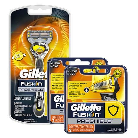 Kit Gillette Fusion ProShield com 1 Aparelho + 4 Cargas