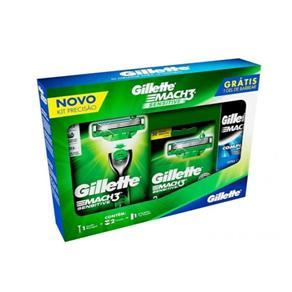 Kit Gillette Mach3 Sensitive: 1 Aparelho Sensitive + 2 Cargas Sensitive