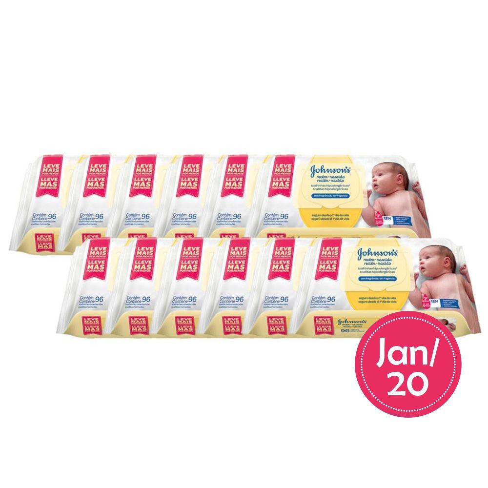 Kit Johnson's Baby Toalhinhas Recém-Nascido 1152 Lenços