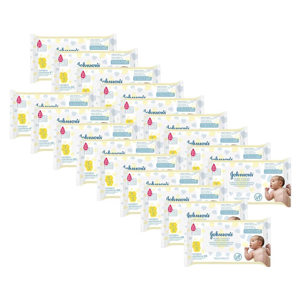 Kit Johnson's Baby Toalhinhas Recém-Nascido s/ Fragrância 864 unidades