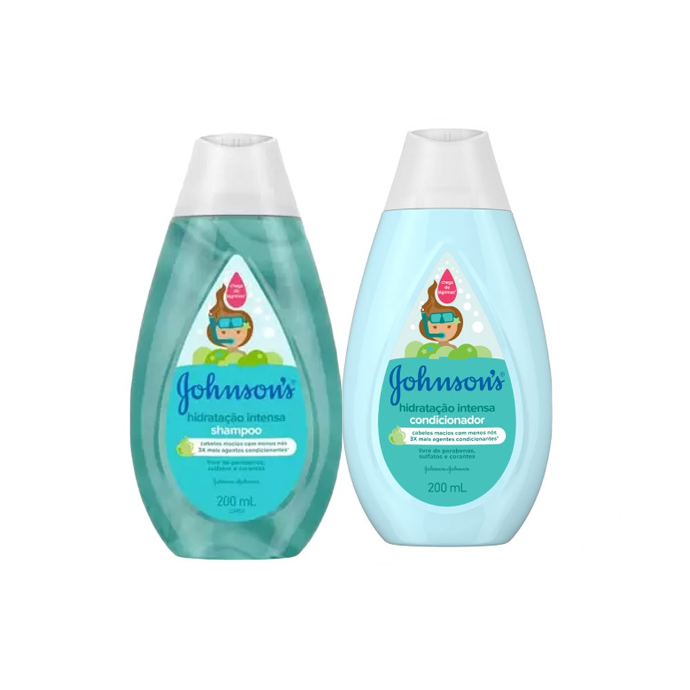 Kit Johnson's Hidratação Intensa Shampoo 200mL e Condicionador 200mL